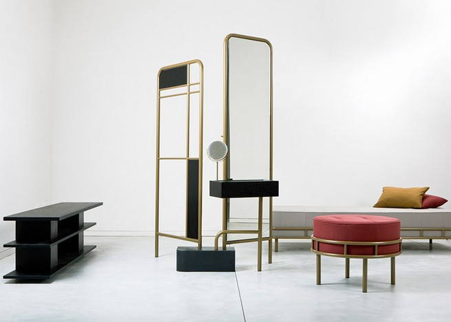 David Amar S Bialik Furniture Collection Inspired By Art Deco Floor Tiles In A Tel Aviv Home