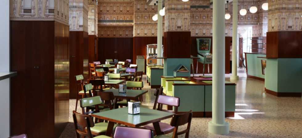 The director Wes Anderson designed the interior of a bar in MilanSemThe director Wes Anderson designed the interior of a bar in Milan