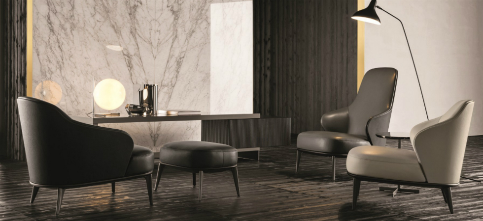 The new Minotti Armchairs are elegant and protectiveThe new Minotti Armchairs are elegant and protective