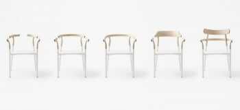 The new chair by Nendo has an interchangeable wooden top 2
