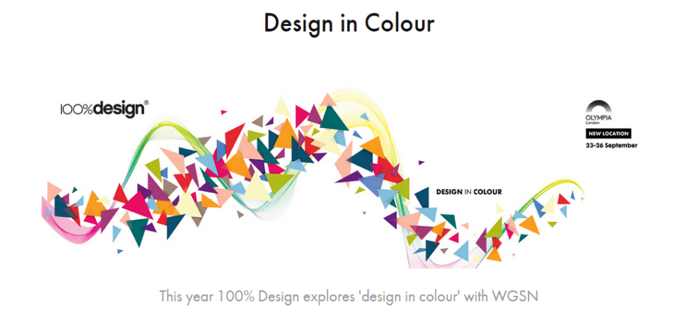 "The theme for 2015's 100% Design is ""Colors""The theme for 2015s 100 Design is Colors1"