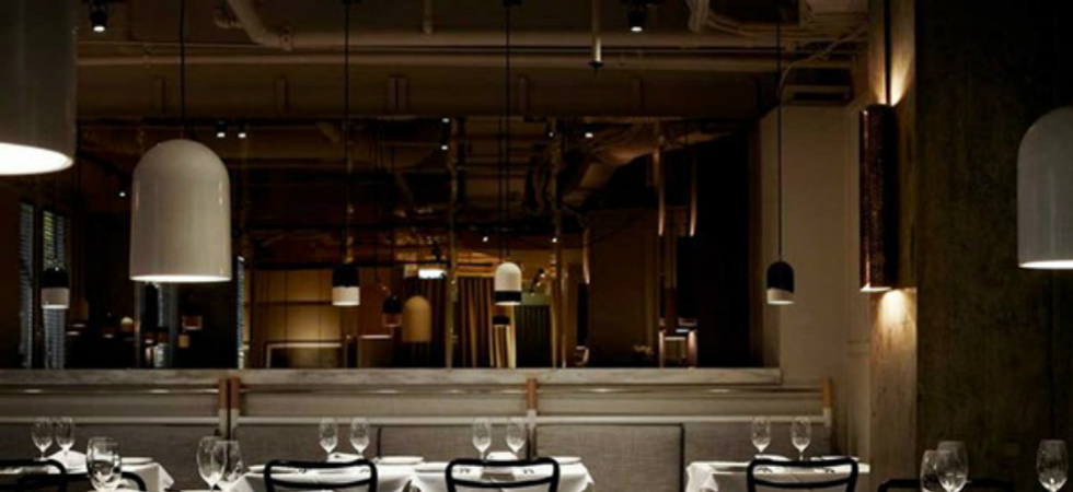 Prix Fixe Restaurant in Australia with BRABBU's VELLUM Wall LampPrix Five Restaurant in Australia with BRABBUs VELLUM Wall Lamp