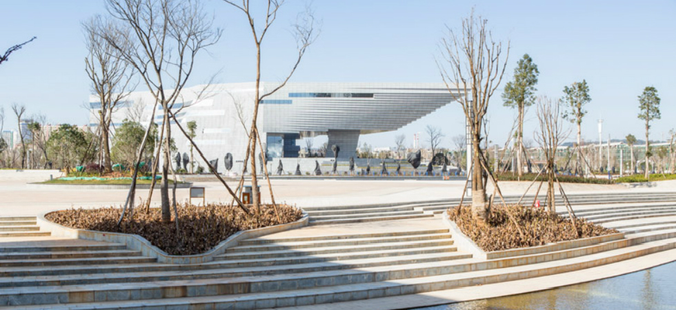 A new museum in China features a roof shaped like an upside-down staircasechina museum atelier alter chinese firms hordor design group 7