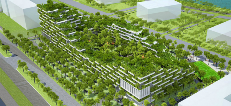 Vo Trong Nghia unveils tree-covered university in VietnamVo Trong Nghia architects vietnam tree covered Ho Chi Minh City 7
