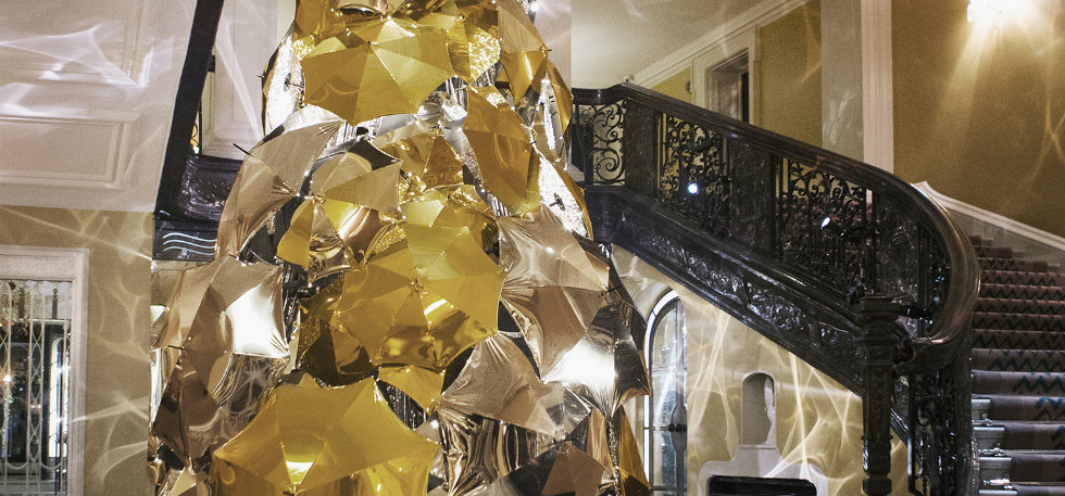 Claridges Christmas tree 2015 by christopher bailey Christopher BaileyClaridge's Christmas tree revealed by Christopher BaileyClaridges Christmas tree 2015 by christopher bailey1