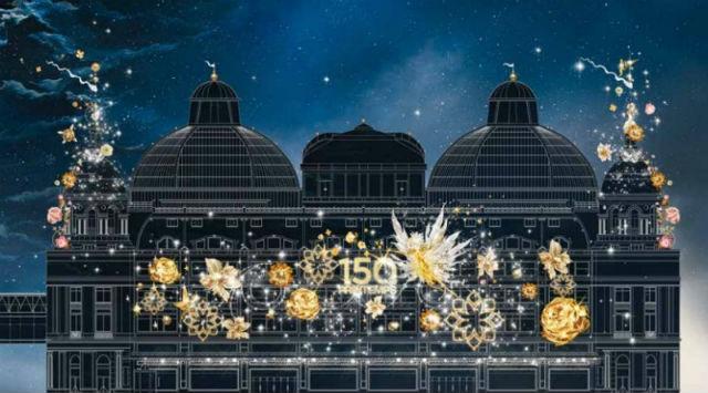 christmas window displayChristmas Window display : Fairy Tales at PrintempsPrintemps Christmas 2015 2 800x444