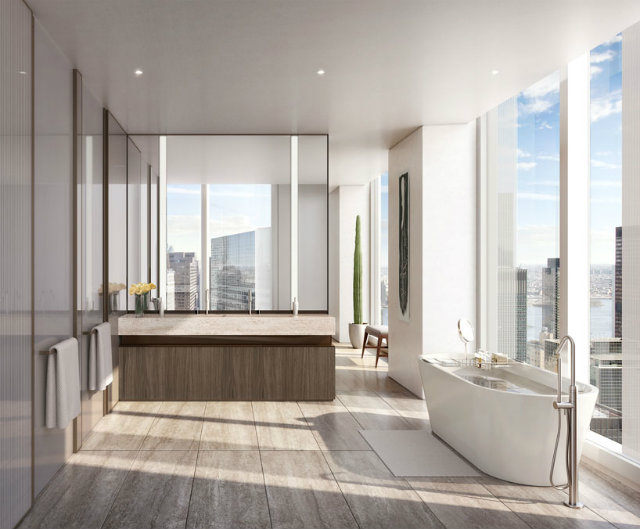 the interiors instill a refined elegance foster partnersFoster Partners new residential tower in New Yorkthe interiors instill a refined elegance