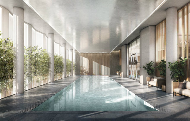 the tower will host an array of facilities such as a spa and pool foster partnersFoster Partners new residential tower in New Yorkthe tower will host an array of facilities such as a spa and pool
