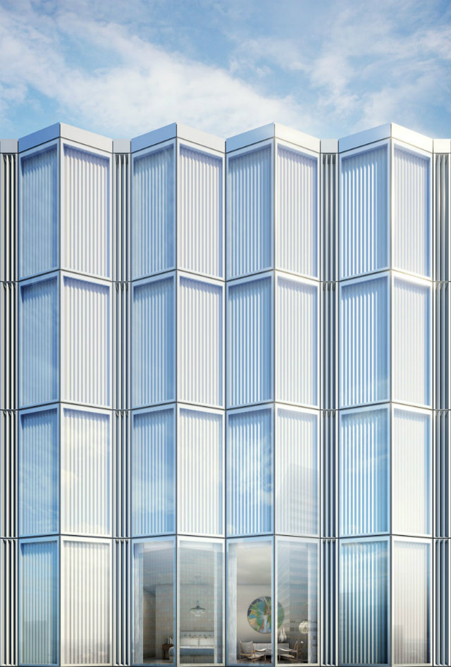 to preserve the smooth appearance of the facade, opening vents in the glazing flap is positioned inwards foster partnersFoster Partners new residential tower in New Yorkto preserve the smooth appearance of the facade opening vents in the glazing flap is positioned inwards