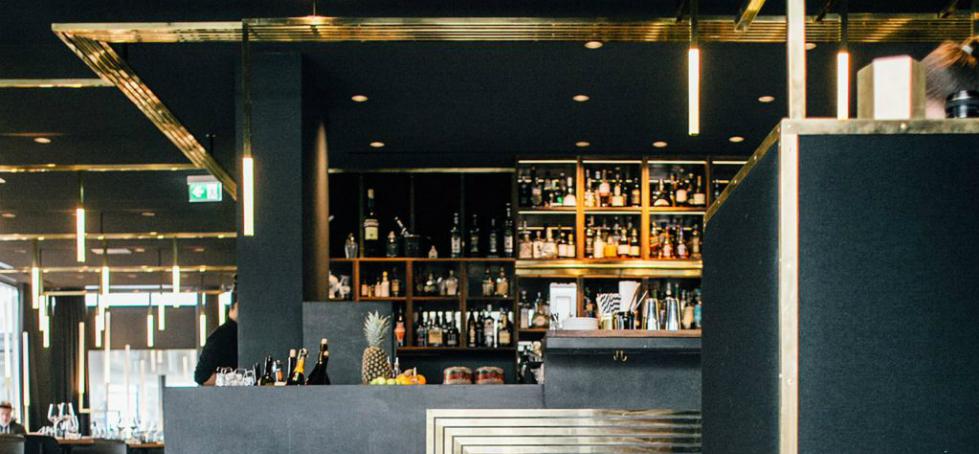 Brass lines making success in Modernist Herzog Bar & Restaurant München