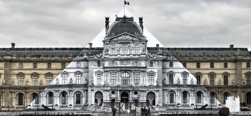 musée du louvreArtist JR Transforms The Musée du Louvre With Optical IllusionArtist JR Transforms The Mus  e du Louvre With Optical Illusion 7