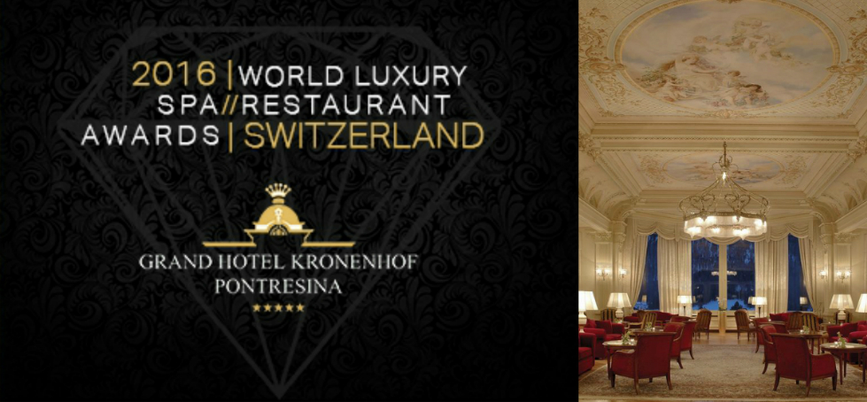 Grand Hotel Kronenhof Pontresina 2016 World Luxury SPA and Restaurant Awards at Grand Hotel Kronenhof PontresinaGrand Hotel Kronenhof Pontresina head