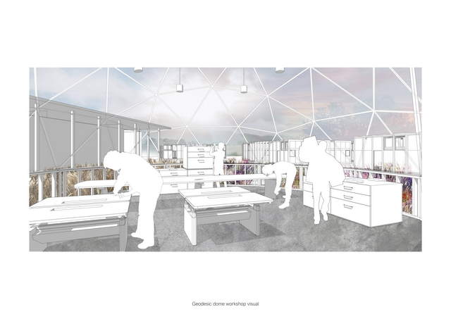The Meadow: a social architecture project for refugees and homeless families The Meadow: a social architecture project for refugees and homeless familiesGeo Dome