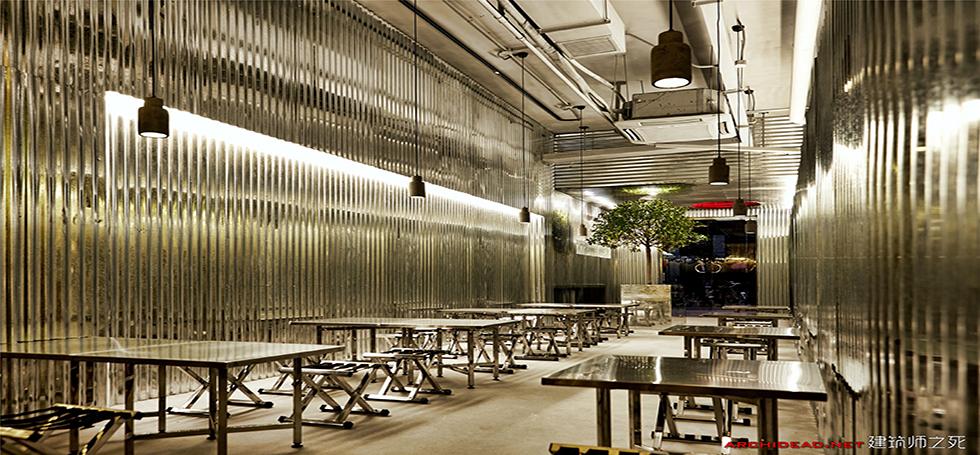 Regular ramen shop transformed into a modern design BBQ bar by Robot3