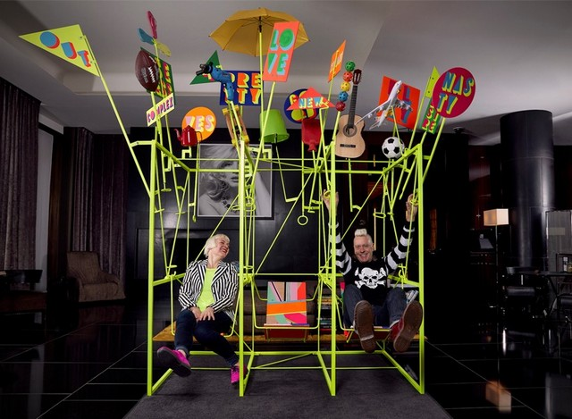 Morag Myerscough & Luke Morgan collaboration for Bulgari London Hotel London Design Festival 2016Bulgari Hotel welcomes Sign Machine for London Design Festival 2016Bulgari Hotel welcomes Sign Machine for London Design Festival 2016 3