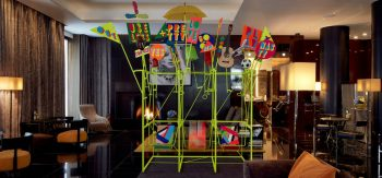 Morag Myerscough & Luke Morgan collaboration for Bulgari London Hotel
