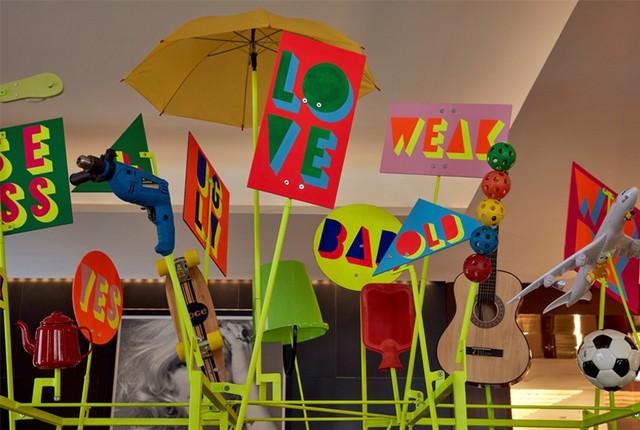 Morag Myerscough & Luke Morgan collaboration for Bulgari London Hotel London Design Festival 2016Bulgari Hotel welcomes Sign Machine for London Design Festival 2016Bulgari Hotel welcomes Sign Machine for London Design Festival 2016 4