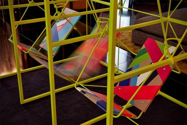 Morag Myerscough & Luke Morgan collaboration for Bulgari London Hotel London Design Festival 2016Bulgari Hotel welcomes Sign Machine for London Design Festival 2016Bulgari Hotel welcomes Sign Machine for London Design Festival 2016 6