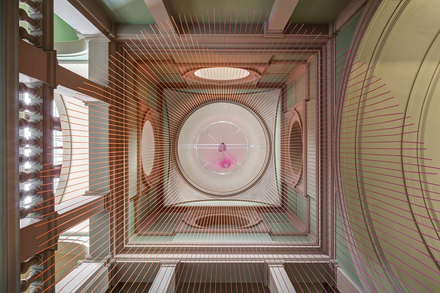 Abstract clock at V&A museum green room by Glithero London Design Festival 2016London Design Festival 2016 – The Green Room at V&A museum by GlitheroLondon Design Festival 2016 The Green Room at VA 1