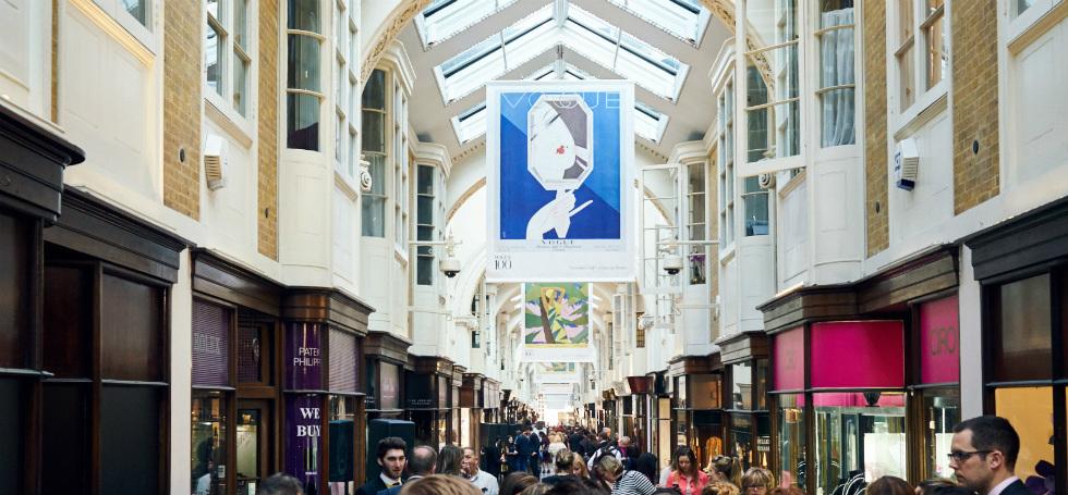 Vogue 100 at Burlington Arcade: celebrating the centenary edition