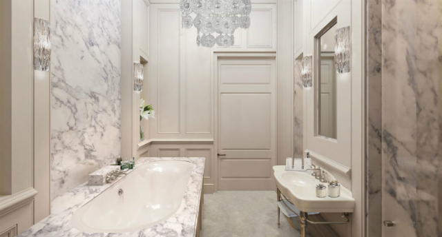 Luxury Apartments In London That Once Were The Titanic Ticket Office luxury apartments in londonLuxury Apartments In London That Once Were The Titanic Ticket Officegallery 1479857043 oceanic house marble bathroom