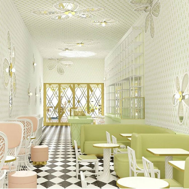 Inside the New Beverly Hills Café Designed by India Mahdavi Inside a New Beverly Hills Café Designed by India MahdaviInside a New Beverly Hills Caf   Designed by India Mahdavi 3