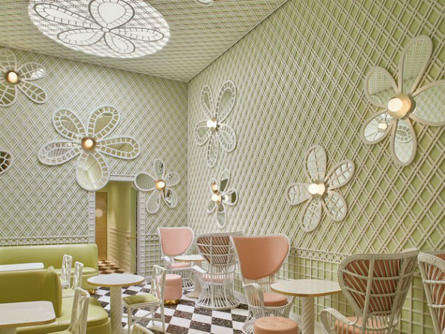 Inside the New Beverly Hills Café Designed by India Mahdavi Inside a New Beverly Hills Café Designed by India MahdaviInside a New Beverly Hills Caf   Designed by India Mahdavi 4