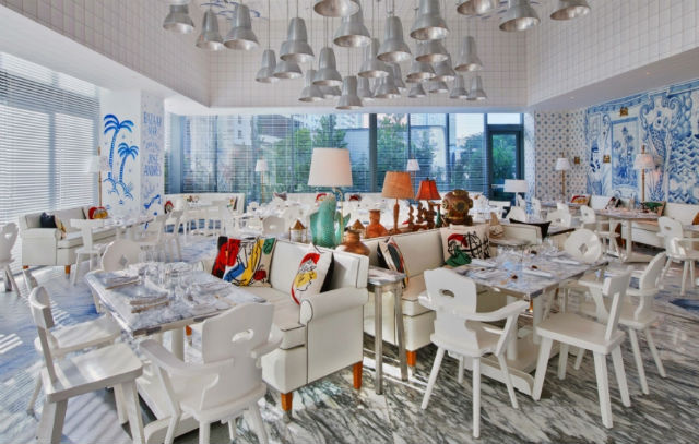 new miami restaurant decorated by french designer philippe starck news events by brabbu. Black Bedroom Furniture Sets. Home Design Ideas