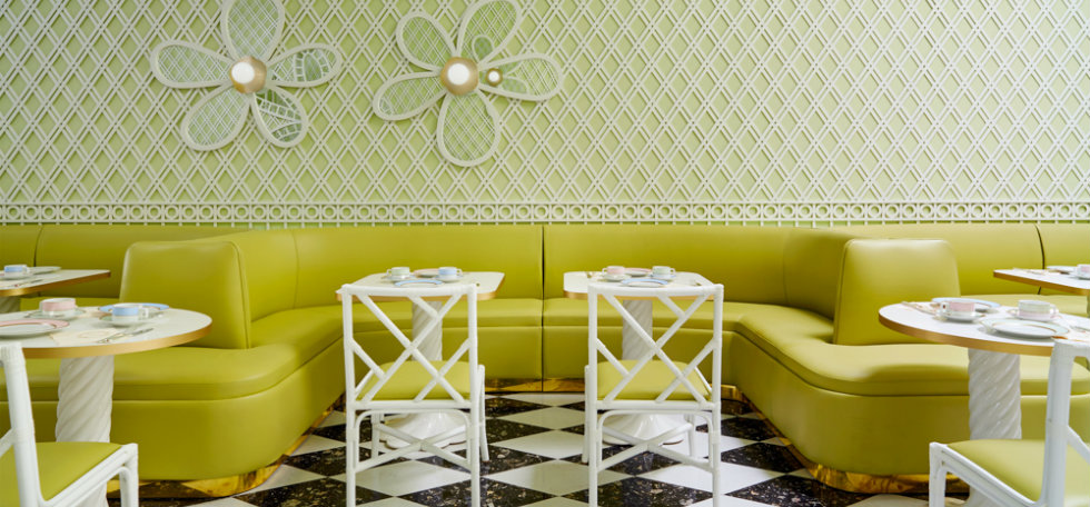 Inside a New Beverly Hills Café Designed by India Mahdaviladuree beverly hills 3