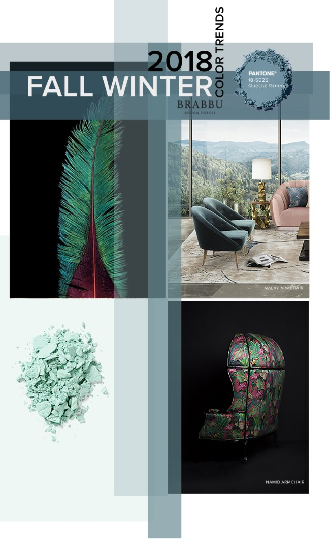 Fall Winter 2018_The Colours Unveiling New Home Decor Trends_Quetzal Green home decor trendsFall Winter 2018: The Colours Unveiling New Home Decor TrendsFall Winter 2018 The Colours Unveiling New Home Decor Trends Quetzal Green
