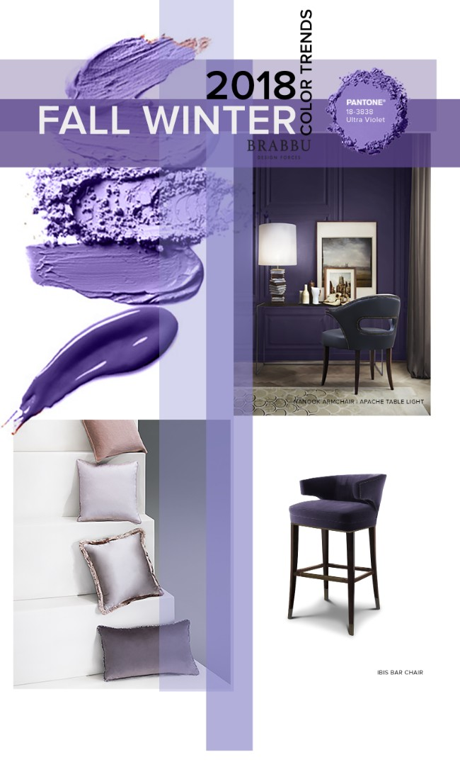 Fall Winter 2018 The Colours Unveiling New Home Decor Trends Ultra Violet TrendsFall