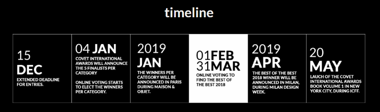 maison et objet 2019Maison et Objet 2019 and Other Remarkable Events to Kick Off the Yeartimeline covet international awards