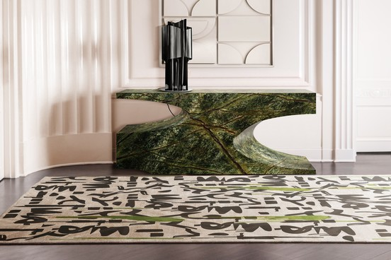 new productsNew Products For Interiors Full Of PersonalityBB bryce borwn marble console rug grafitti 3 4