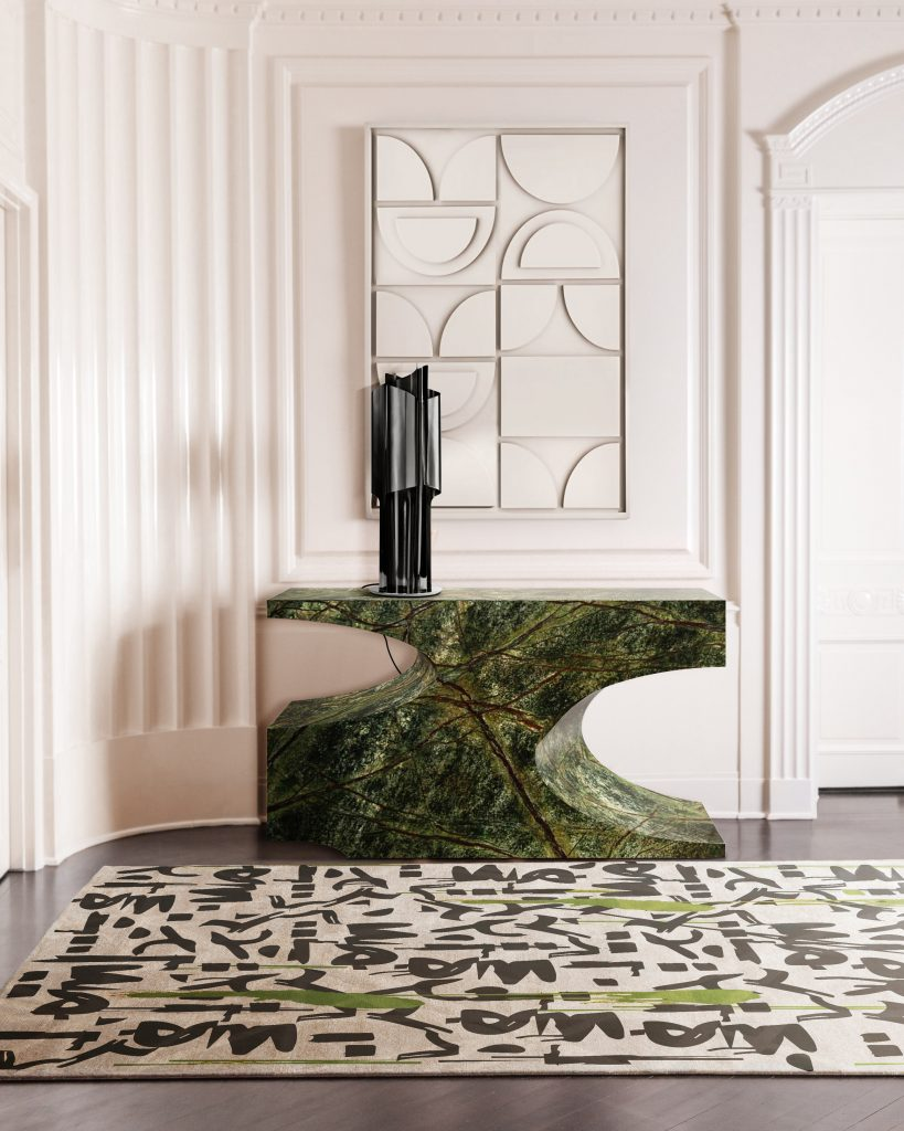 new productsNew Products For Interiors Full Of PersonalityBB bryce borwn marble console rug grafitti 3 819x1024