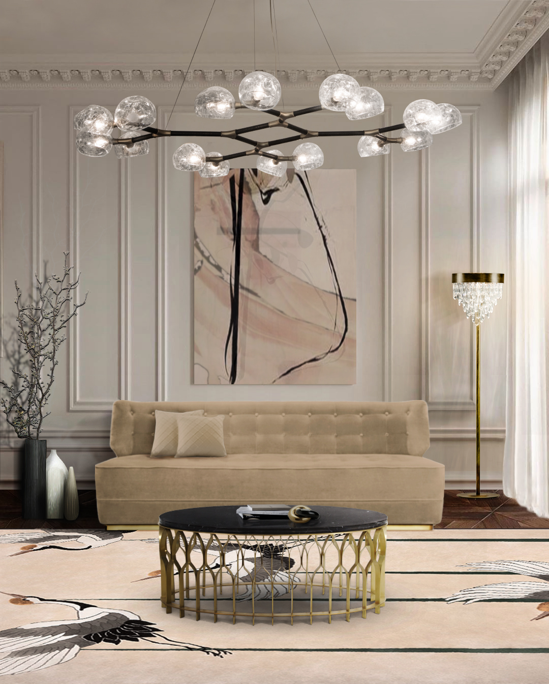 Incredible Sofas for Outstanding Living Rooms incredible sofasIncredible Sofas for Outstanding Living RoomsBB george sofa mecca center table horus suspension light