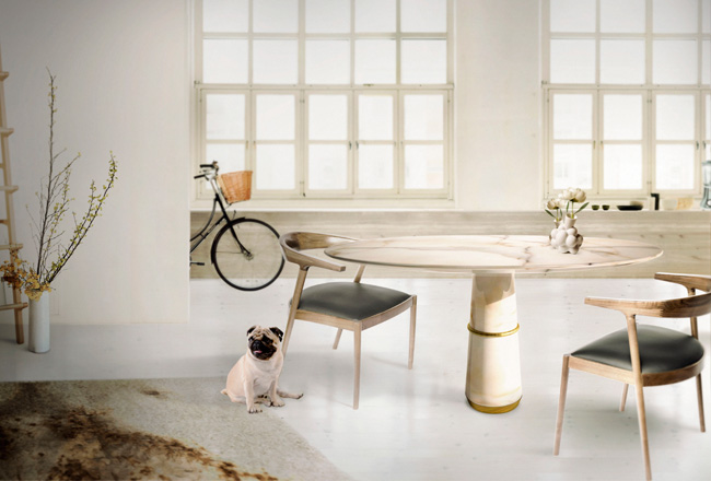 Agra Marble Dining Table By Brabbu