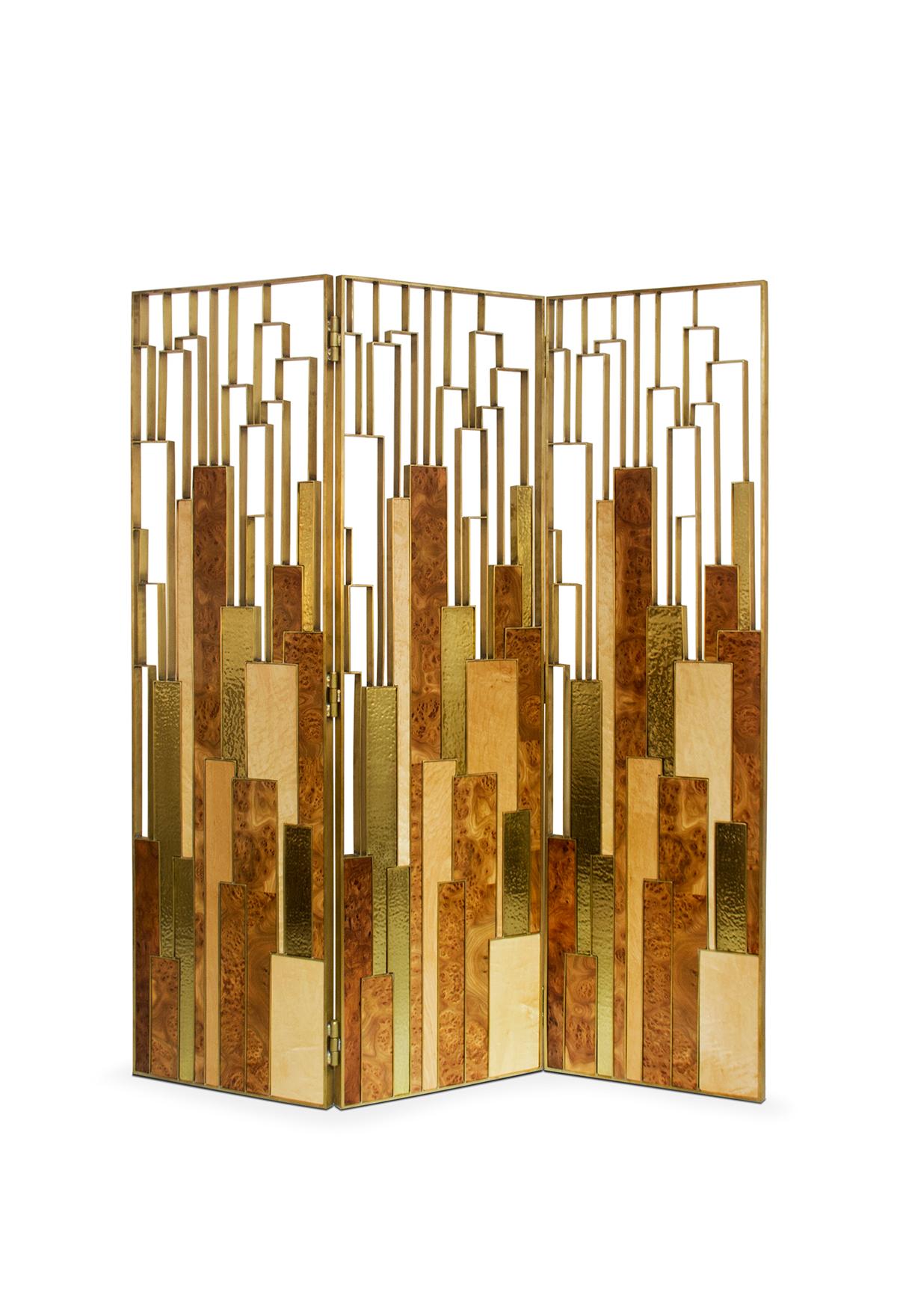 Delphi contemporary folding screen by brabbu