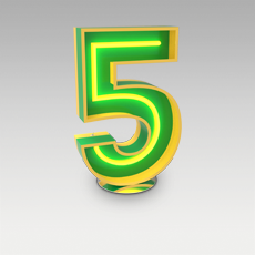 5 Number from Graphic Collection by DelightFULL
