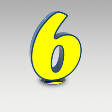 6 Number from Graphic Collection by DelightFULL