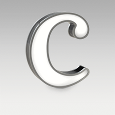 C Letter from Graphic Collection by DelightFULL
