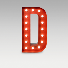 D Letter from Graphic Collection by DelightFULL