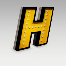 H Letter from Graphic Collection by DelightFULL