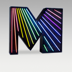 M Letter from Graphic Collection by DelightFULL