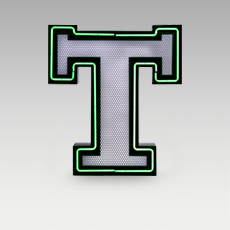 T Letter from Graphic Collection by DelightFULL