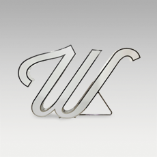 W Letter from Graphic Collection by DelightFULL