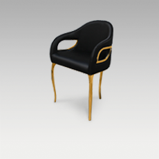 CHANDRA Dining chair by KOKET