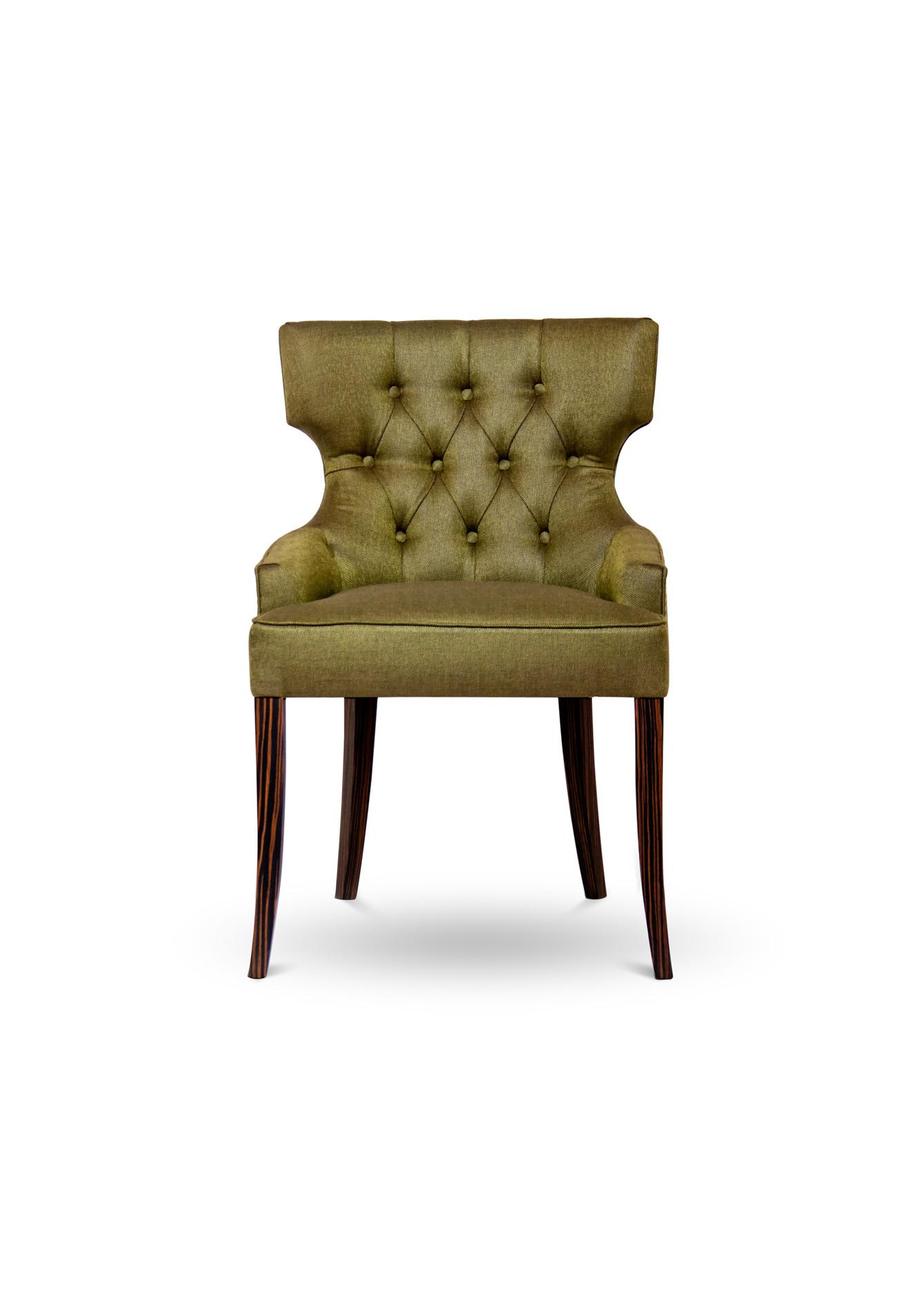 MAORI Modern Upholstered Dining Chair By BRABBU