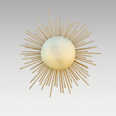 SOLEIL WALL LIGHT by BRABBU