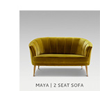 MAYA | 2 SEAT SOFA by BRABBU