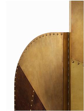 CANYON   Contemporary 4-Panel Screen by BRABBU